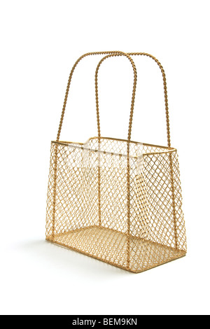 Wire Mesh Carry Basket - Stock Photo