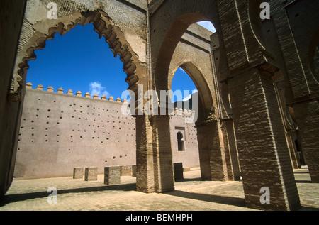 Interior of the Tinmel / Tin Mal mosque, High Atlas, Morocco - Stock Photo