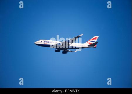 British Airways Boeing 747 jumbo jet - Stock Photo