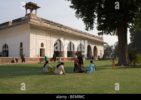 Rang Mahal or Palace of Colour is located in the Red Fort, Old Delhi, Delhi, India - Stock Photo