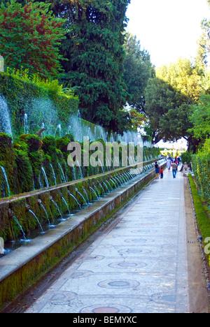 Le Cento Fontane  (The Hundred Fountains), Villa D'Este, Tivoli, Italy - Stock Photo