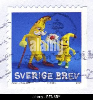 Postage Stamp (Sweden) - Stock Photo