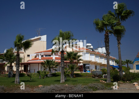 beachfront apartments and holiday homes larnaca republic of cyprus europe - Stock Photo