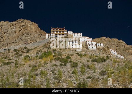 Key Monastery Spiti Valley Himachal Pradesh India - Stock Photo