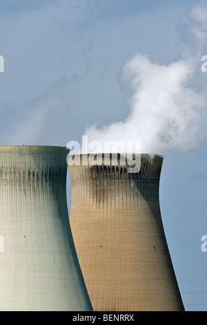 Cooling towers the nuclear power plant - Stock Photo