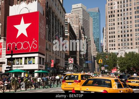 Herald Square in New York City - Stock Photo