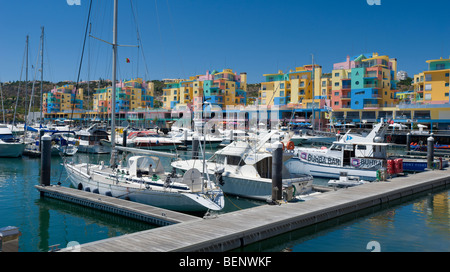 Portugal, the Algarve, Albufeira marina - Stock Photo