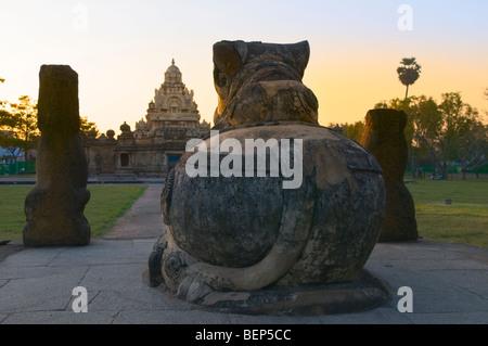 Kailasanatha Temple Kanchipuram Tamil Nadu India - Stock Photo