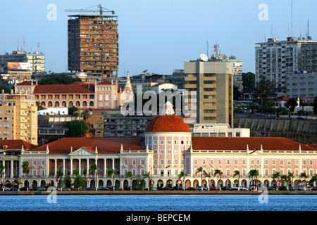 High-rise blocks in the business centre of Luanda, capital city of Angola, Southern Africa - Stock Photo