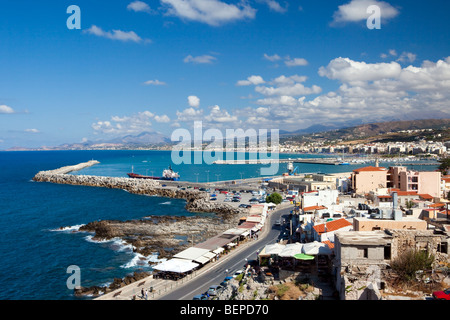 Kind on the city of Rethymno from a fortress Fortezza - Stock Photo