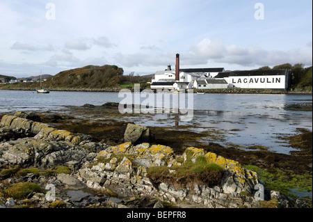lagavulin whisky distillery, isle of islay, scotland - Stock Photo