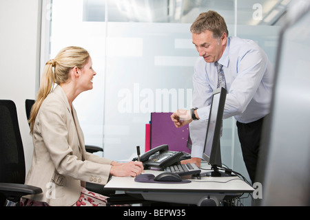 A business couple talking - Stock Photo