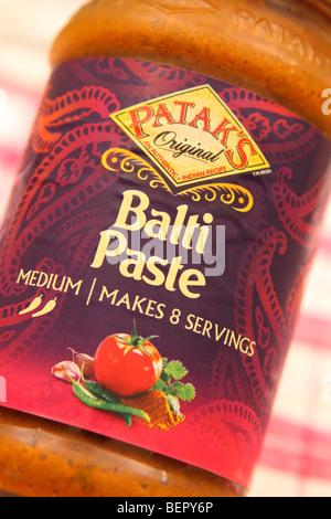 Pataks Original Indian food Balti Paste sauce jar logo design and packaging - Stock Photo