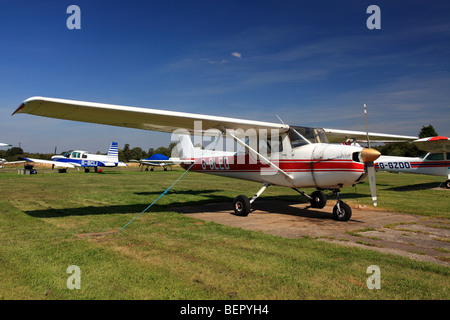 Cessna 150M light aircraft,currently stationed at Elstree Aerodrome, Hertfordshire, England. - Stock Photo