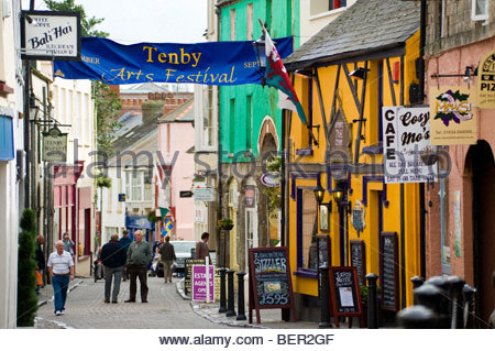 Tenby, Pembrokeshire, South Wales, UK. - Stock Photo