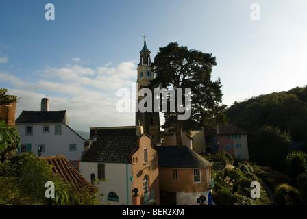 Portmeirion village, Gwynedd, Wales. - Stock Photo