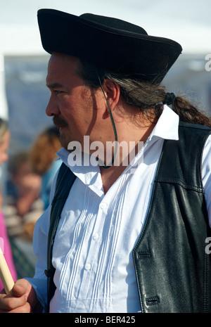 Man in Hungarian Regional dress Hungary - Stock Photo