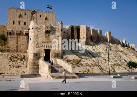 The old citadel, Aleppo, Syria, Middle East - Stock Photo