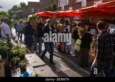 columbia road flower market in london's eastend - Stock Photo
