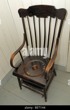 Antique Wooden Toilet Chair Stock Photo 14347762