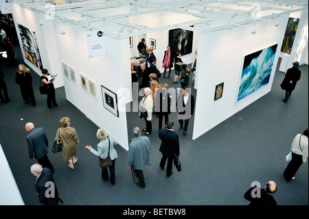 Paris, France, People Visiting Annual Contemporary Arts Show, FIAC, in 'Grand Palais' , Overview, 'Daniel Templon - Stock Photo