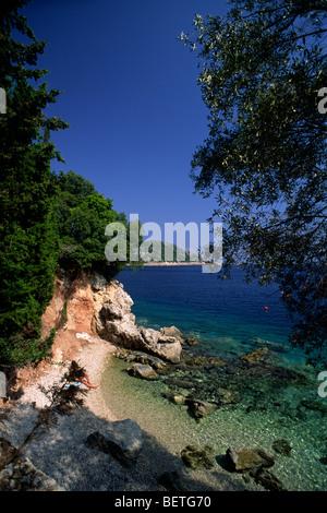 greece, ionian islands, ithaca, kioni - Stock Photo