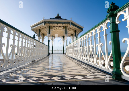 The newly restored bandstand on Hove seafront in East Sussex, UK. Picture Jim Holden. - Stock Photo