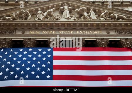 New York Stock Exchange Building - Stock Photo