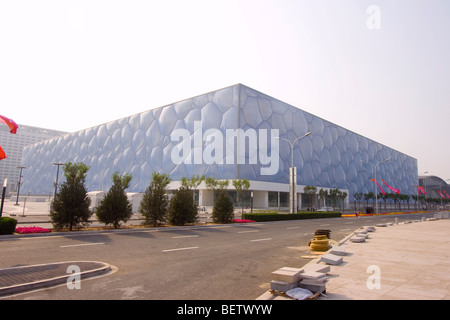 Beijing National Aquatics Centre (北京国家游泳中心) also known as the Water Cube (水立方) or abbreviated [H2O] - Stock Photo