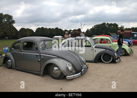 vw beetle german vintage car as a police car. Black Bedroom Furniture Sets. Home Design Ideas