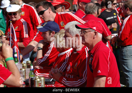 British and Irish Lions rugby supporters - Stock Photo