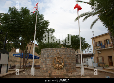 nationalist martyr army memorial nicosia TRNC turkish republic of northern cyprus - Stock Photo