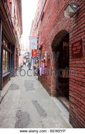 Fan Tan Alley - Chinatown, Victoria, B.C. - Stock Photo