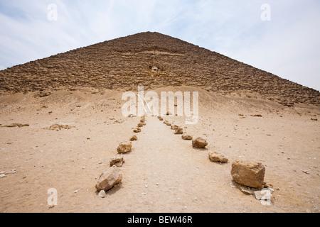 Entrance Red Pyramid of Pharaoh Snofru, Dahshur, Egypt - Stock Photo