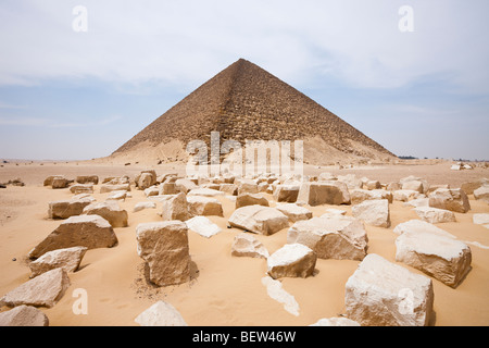 Red Pyramid of Pharaoh Snofru, Dahshur, Egypt - Stock Photo