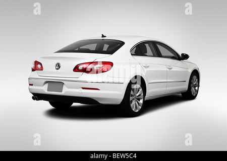 2010 Volkswagen CC Sport in White - Rear angle view - Stock Photo