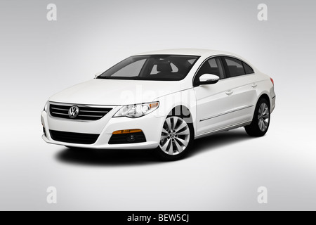 2010 Volkswagen CC Sport in White - Front angle view - Stock Photo