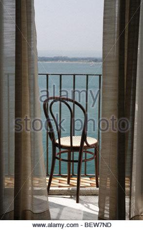 Hotel Balcony Near Syracuse Sicily Sea View Near Beach