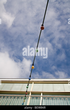 Low angle view of decorative bulbs, Berlin, Germany - Stock Photo