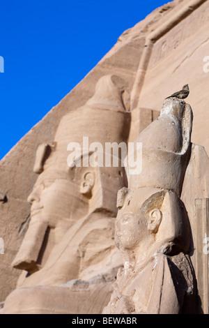 Colossal Statue of Pharao Ramesses II, Abu Simbel, Egypt - Stock Photo