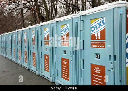 public toilets in Berlin, Germany - Stock Photo