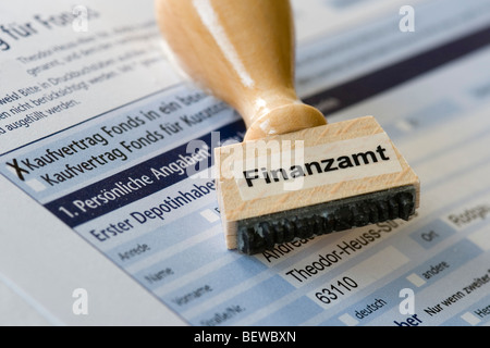 Stamp with the inscription Finanzamt - Stock Photo