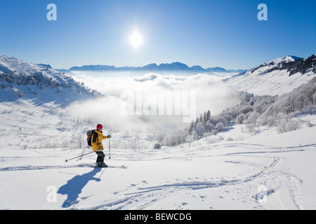 downhill, Schmittenstein, Austria - Stock Photo