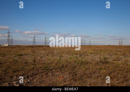 Brown field site at  Barking Riverside, part of the London Thames Gateway area - Stock Photo