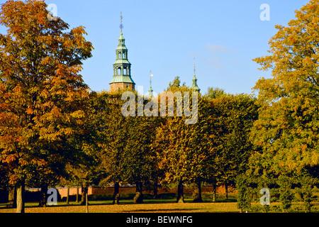 Rosenborg Castle Garden in Copenhagen - Stock Photo