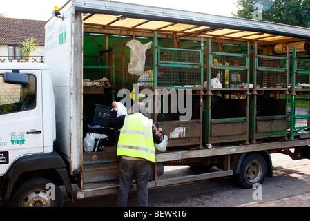 Kerbside recycling in mid Devon - Stock Photo