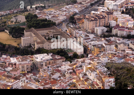 Jaen view from Santa Catalina´s castle. Andalusia, Spain - Stock Photo