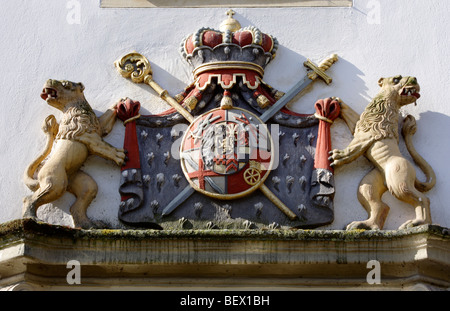 Coat of arms,  Castle  Borbeck, Essen, North Rhine-Westphalia, Germany - Stock Photo