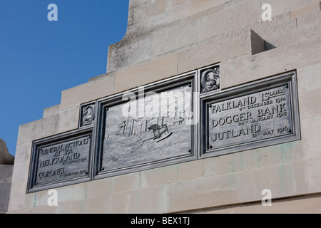 Detail from War Memorial on Clarence prom, Portsmouth & Southsea, England UK. - Stock Photo