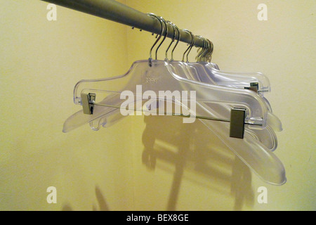 Clothes hanger . Wuppertal , Germany . - Stock Photo
